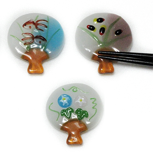 Chopstick Rests Uchiwa -Round Fan-