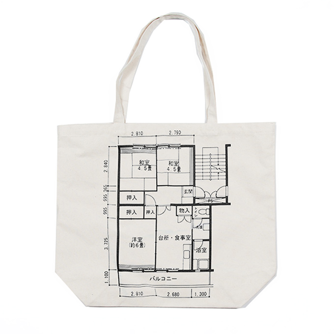 Floor Plan Tote Bag - Click Image to Close