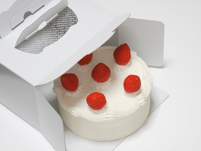 Strawberry Sponge Cake Shaped Box