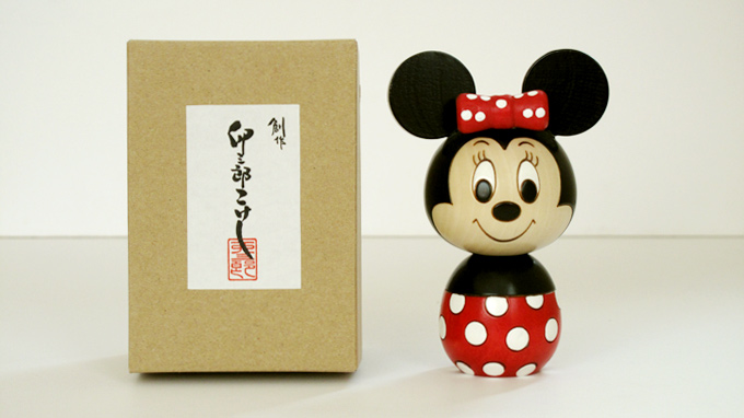 Mickey & Minny Mouse Kokeshi