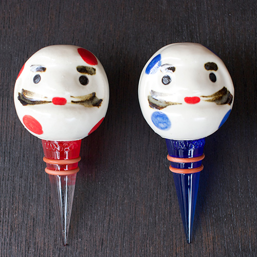 Daruma wine stoppers - Click Image to Close
